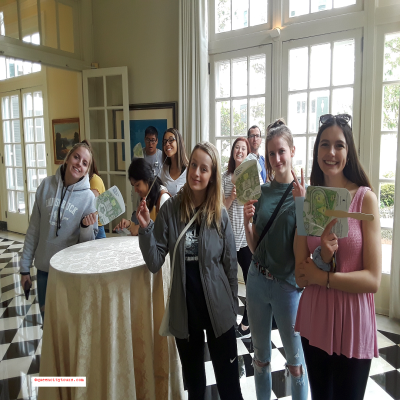 Students - Duke Mansion - QCT Charlotte Daily City Tour