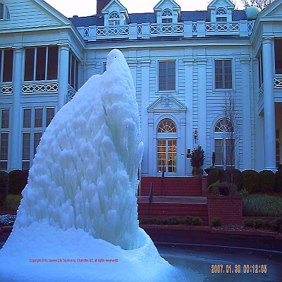 Duke Mansion Fountain Freeze - QCT Charlotte Daily City Tour